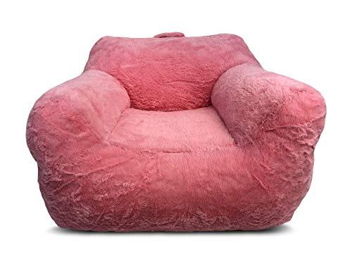 Heritage Kids Faux Fur Bean Bag Chair, Pink