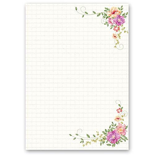Briefpapier Blumen & Blüten BLUMENBRIEF - DIN A5 Format 50 Blatt - Paper-Media