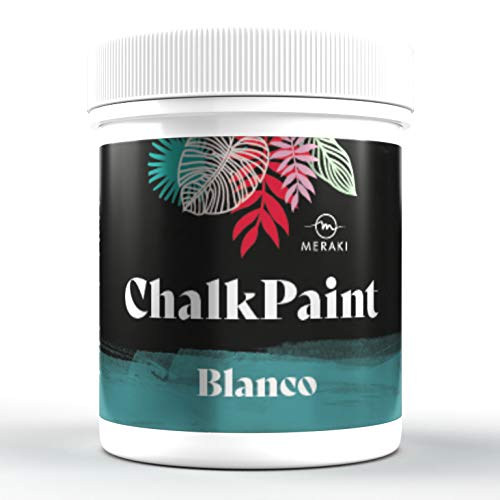 CHALK PAINT Pintura efecto tiza al agua mate (500ML, BLANCO)