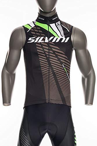 SILVINI Team Gilet de vélo Noir/Vert, Homme, Noir, m
