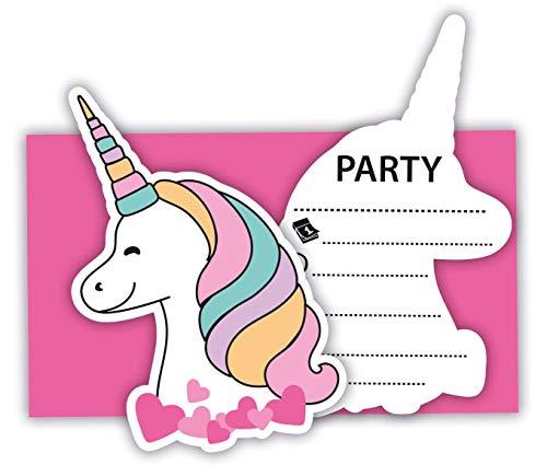 Procos 89290 - Einladungskarten mit Umschlägen Magic Party, 6 Stück, Kindergeburtstag