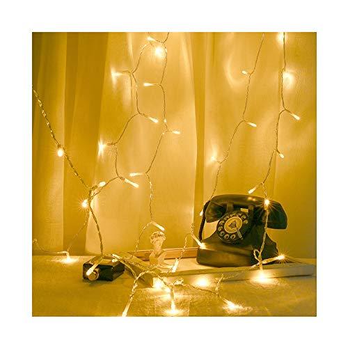 CLOOM Luces De Hadas Guirnalda Luminosa 4M 40 LED Luces De árbol Luces De Cadena Blancas CáLidas Interiores y Exteriores con Luz Iluminación Decoración Para Casas Jardines Boda