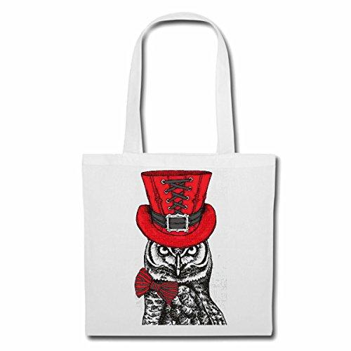 sac à bandoulière UHU OWL LIFESTYLE STRAIGHT FASHION STREETWEAR HIPHOP SALSA LEGENDARY Sac Turnbeutel scolaire en blanc