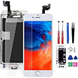 Screen Replacement for iPhone 6S White with Home Button and Camera, Bsz4uov 3D Touch Screen Digitizer Replacement for A1633, A1688, A1700,with Proximity Sensor Ear Speaker,Tempered Glass Repair Tools
