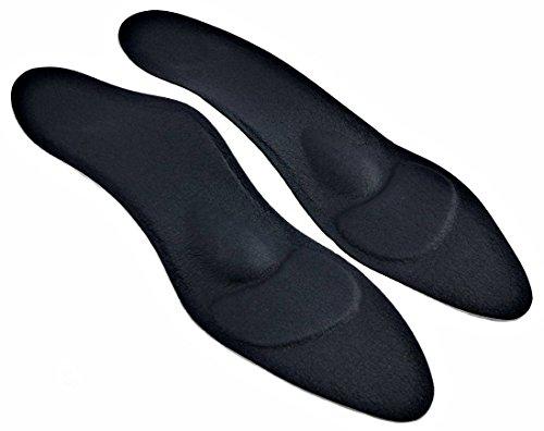 Green-Feet orthopädische Damen Komfort Schuheinlagen Beige f. High Heel, Pumps u. Absatzschuhe, 1,8mm dünnen Einlegesohlen gegen Senkfuß u. Spreizfuß (38 beige)