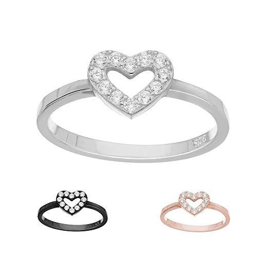 Treuheld Ring - 925 Silber - Herz - Kristalle [10.] - Silber 58