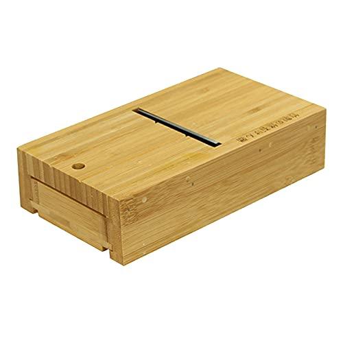 perfeclan Caja de Madera Cortador de Pan de Jabón Biseladora Cepillo Recorte DIY Herramienta de Fabricación de Velas de Jabón