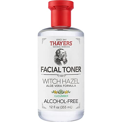 Thayer's Alcohol Free Cucumber Witch Hazel Toner with Aloe Vera, 12 Ounce
