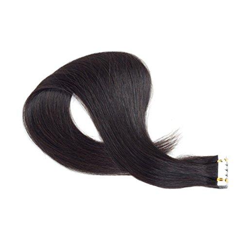 frcolor droit perruques perruque Extensions en cheveux cheveux tape in virole en noir