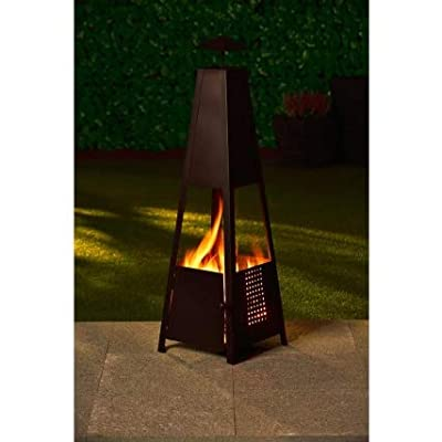 Crazyshop1 Fabulous Arizona Pyramid Chiminea 100cm For Garden from 37765