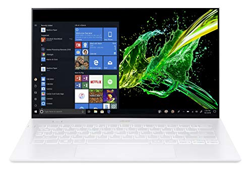 "Acer Swift 7 Thin & Lightweight Laptop 14"" FHD IPS Touch Display in a Thin .10"" Bezel, 8th Gen Intel Core i7-8500Y, 16GB LPDDR3, 512GB PCIe NVMe SSD, Back-lit Keyboard, Windows 10 - SF714-52T-73CQ"