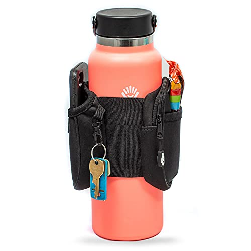 Bottle Caddy Water, Storage Sleeve for Reusable Water Bottles, Double-Sided Storage with Secure Pockets, Large Size (32-40+ Oz Bottles)