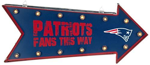 FOCO NFL New England Patriots Running Light Marquee Signrunning Light Marquee Sign