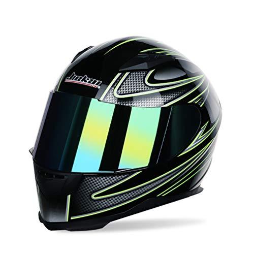 baratos y buenos Hombres Mujeres Cascos integrales de moto para cascos de moto de invierno … calidad