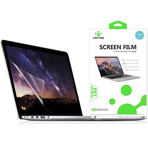 lention Clear Screen Protector Bildschirmschutz für MacBook Pro (Retina, 15 Zoll, Mitte 2012 bis Mitte 2015) - Modell A1398, HD-Schutzfolie mit hydrophober oleophober Beschichtung