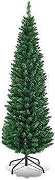 Goplus 6FT Pencil Christmas Tree With 400 Branch Tips