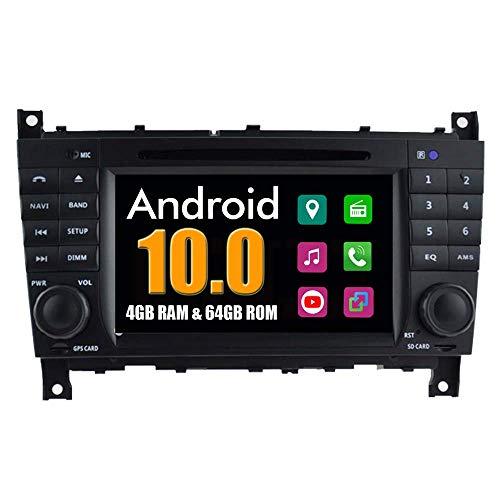 LYHY Car Stereo Android System Car DVD Player para Mercedes-Benz CLK W203 W209 W219 W467 con Multiedmai Stereo GPS Navigation Radio Bluetooth USB MirrorLink