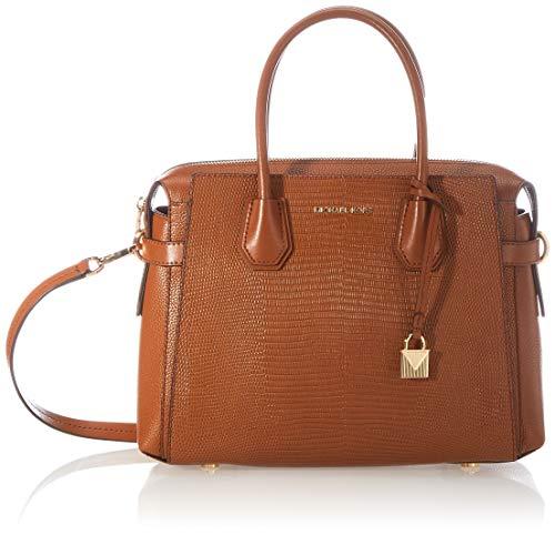 Michael Kors Mercer  Bolsa de Noche para Mujer  Luggage  Medium