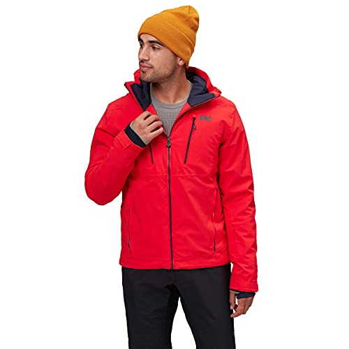 Helly Hansen Men s Alpha 3.0 Waterproof Insulated Ski Jacket, 222 Alert Red, Large