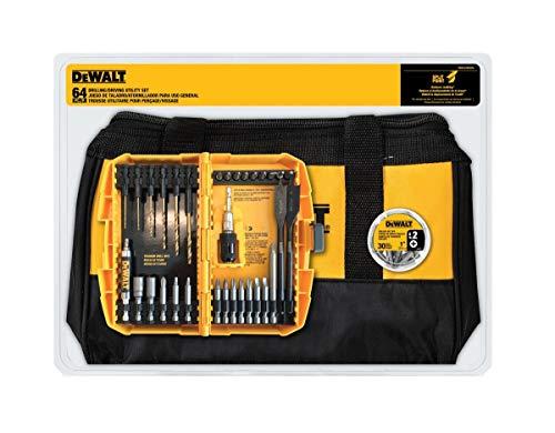 Dewalt DWA2BAG64A - Set di attrezzi per foratura e guida in ossido nero, 64 pezzi