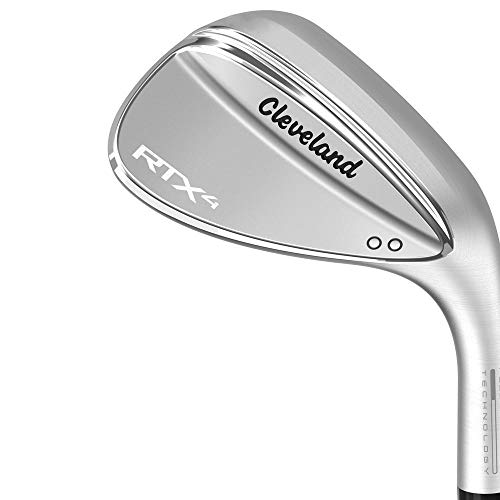 Cleveland Golf Men's RTX 4 Wedge Tour Satin Finish 54 Mid Tour Satin Wedge, Left Hand