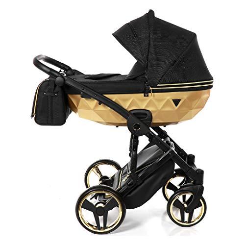 Babywagen Junama Diamond Mirror Satin 3-in-1 BBtwin Zwart + Goud