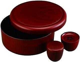 中西工芸 お茶の間セット 朱 サイズ(約):直径31.7×高さ12cm(茶櫃)、直径9×高さ9cm(茶筒)、直径10.2×高さ8cm(茶こぼし)