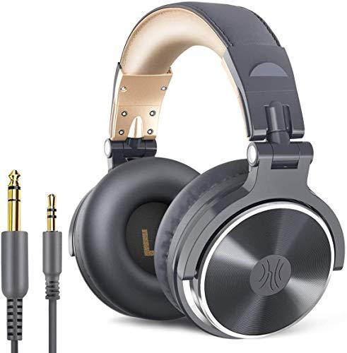 OneOdio DJヘッドホン 密閉型モニターヘッドホン オーバーイヤーヘッドフォン スタジオレコーディング/楽器...