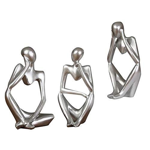 Primlisa Harz Charakter Figuren - Moderne Abstrakte Statuen | Minimalistische Denker Menschen Abstrakt Ornament Skulptur | Künstlerische Denker Figuren Desktop Dekorationen