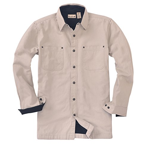 Backpacker Canvas/Fleece Lined Shirt Jacket, Stone, X-Large Tall