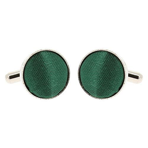 Boutons de Manchette Vert foncé pour Homme - Accessoire Poignet Chemise et Veste de Costume - Mariage, Cérémonie