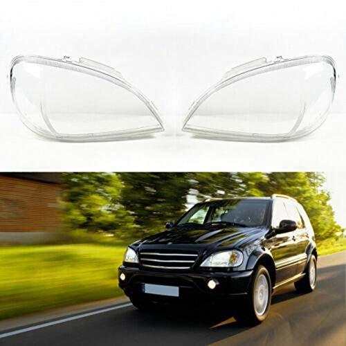 NO LOGO LSB-Scheinwerferabdeckung, 2ST Scheinwerfer Transparent Scheinwerfer Transparent Abdeckung Lampshade-Kopf-Licht-Lampe Shell (Links/rechts) fit for Mercedes Benz W163 Ml