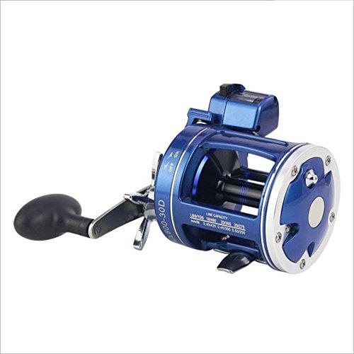 NUYI Carrete de Pesca 12BB Teniendo 300-500 sin Espacio, Tipo de Tambor, Alta Velocidad 3.8: 1-5.2: 1, Mano Izquierda, Mano Derecha, Azul,500 Left Hand