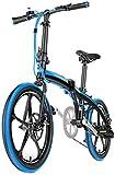 20 mini bicicleta plegable compacta para estudiantes, trabajadores de oficina, medio ambiente urbano y desplazamientos para trabajar, marco de aluminio ligero, bicicleta plegable para adultos.