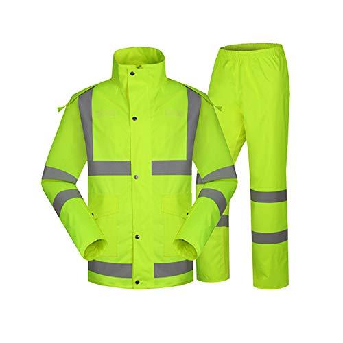 Chendaorong-apparel Sicherheitswesten Für die Arbeit im Freien Herren Warnschutz Bomberjacke Reflective Stripes Für...