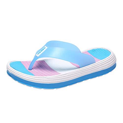 Chancletas Mujer Lanskirt Sandalias Mujeres Verano 2019 Zapatos Arcoiris Chanclas de Aumentar para Playa apatillas Deportivas para Damas Antideslizantes amortiguadores descompresión