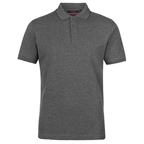 Pierre Cardin Camisa Polo Clásica de Manga Corta para Hombre in Algodón Premium (Medium, Charcoal Marl)