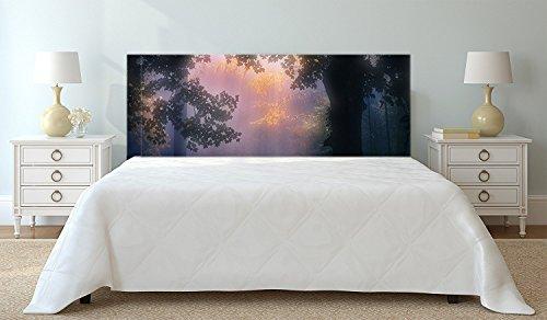 Tête de lit Carton Écologique Texture Vintage Veuilles Fonds Floral du Style de l'époque | 150x60cm | Disponible en différentes Tailles | Tête de lit léger, élégant, résistant et économique