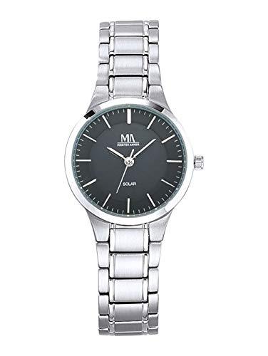 Meister Anker Damen Uhr in Grau mit Armband in Grau aus Titan