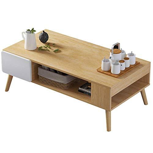 Bakaji Tavolino Divano Tavolo Caffè da Salotto Rettangolare Design Moderno in Legno MDF...