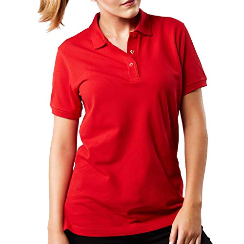 HRM Damen Heavy W Poloshirt, Rot (Red 03-Red), X-Large