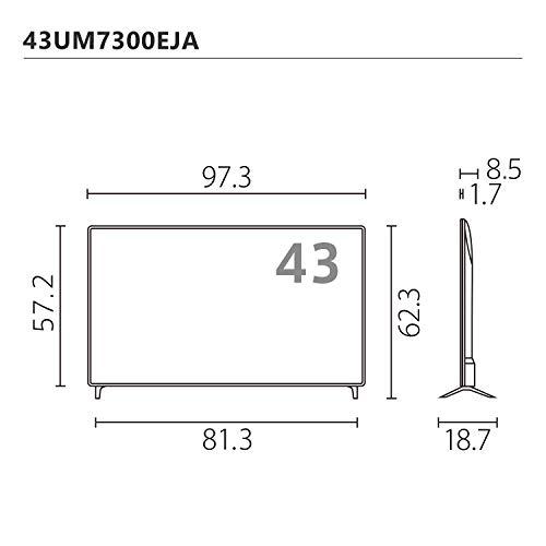 『LG 43V型 4Kチューナー内蔵 液晶テレビ Alexa搭載 ドルビーアトモス 対応 TV 43UM7300EJA』の10枚目の画像