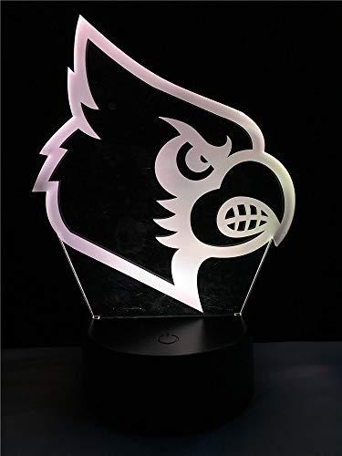 Vogelkopf 3D-Lampenbeleuchtung LED USB-Stimmung Nachtbeleuchtung Mehrfarben Touch Fernlicht Tischlampe Weihnachtsdekoration