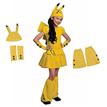 Cute Pikachu Costume for Girls Pokemon Cosplay Costume