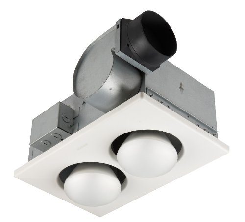 Broan-Nutone 9427P Bulb Heater and Fan, Energy-Saving 2-Bulb...