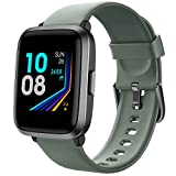 YAMAY Montre Connectée Femmes Homme avec Oxymetre Tensiometre Cardiofrequencemètre Smartwatch Etanche IP68 Montre Sport Podometre Calories Chronometre Montre Intelligente Tactile pour iPhone Android