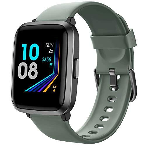 YAMAY Montre Connectée avec Tensiometre Oxymetre Cardiofrequencemètre pour Femmes Homme Smartwatch Etanche IP68 Montre Sport Podometre Calories Montre Intelligente Tactile Chronometre pour Android iOS