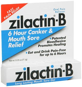 Zilactin-B Canker & Mouth Sore Gel - 0.25 oz, Pack of 6