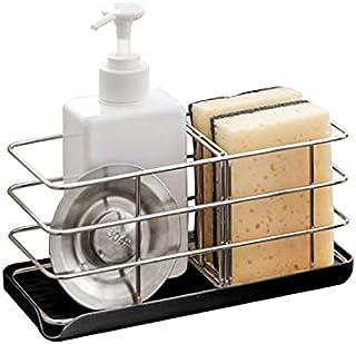 304 Stainless Steel Sponge Holder, Multifunctional Kitchen Sink Organizer Sink Caddy Sink Tray Drainer Rack Brush Soap Hol...