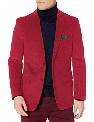 U.S. Polo Assn. Men's Corduroy Sport Coat, Ram1016j Red, 40 Short